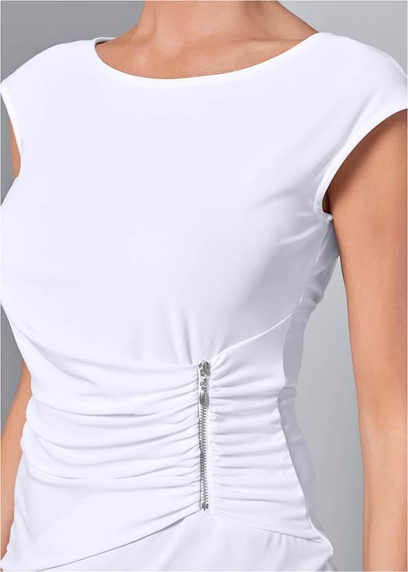 Front View Zip Detail Top
