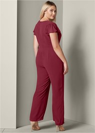 Back View Cross Front Jumpsuit