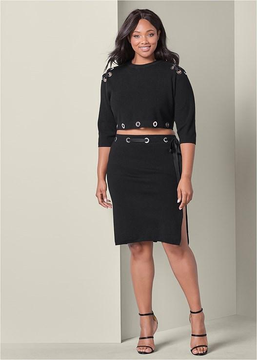 Plus Size Two Piece Sweater Dress Venus