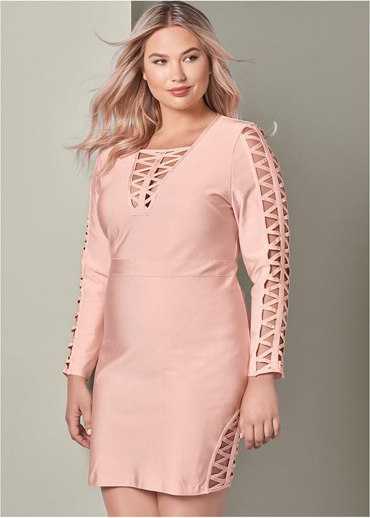 Plus Size BANDAGE STRAPPY DRESS | VENUS