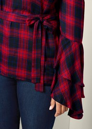 Alternate View Ruffle Off The Shoulder Top