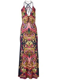 Alternate View Necklace Detail Maxi Dress