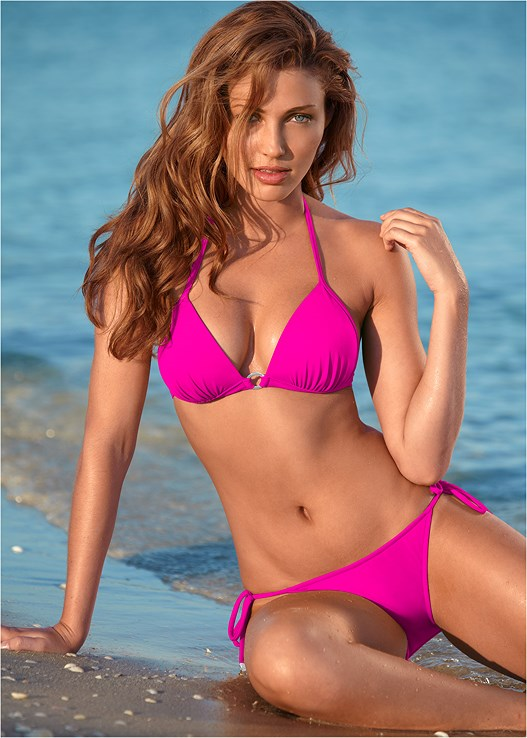 ENHANCER PUSH UP TRIANGLE,RUFFLE EDGE LOW RISE BOTTOM,SCOOP FRONT BIKINI BOTTOM,MID RISE BOTTOM,TERRY SHORTS