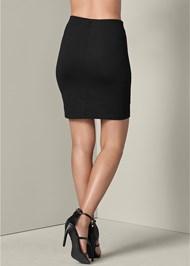Back View Paillette Sequin Skirt