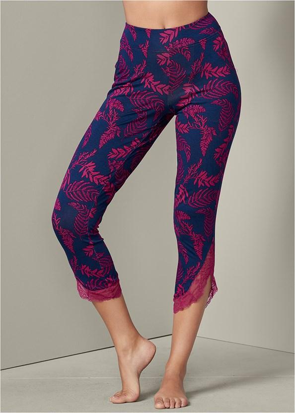Lace Trim Cropped Pant
