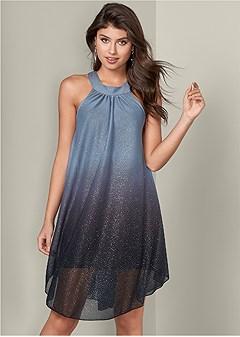 glitter ombre dress