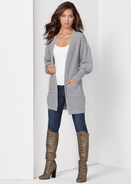 Front View Oversized Cardigan