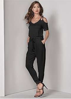 stappy detail jumpsuit