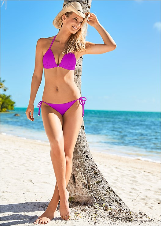 STRING SIDE BIKINI BOTTOM,ENHANCER PUSH UP TRIANGLE
