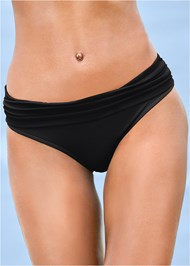 Alternate view Ruched Waist Bikini Bottom