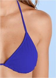 Front View Triangle String Bikini Top