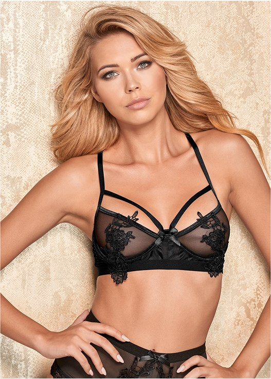 LACE APPLIQUE UNLINED BRA