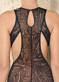Alternate View Sheer Lace Cut Out Bodysuit