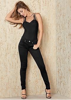 applique thong bodysuit