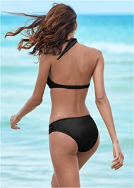 Back view Ruched Waist Bikini Bottom