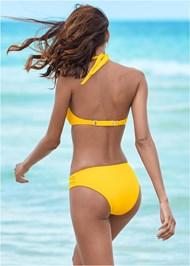 Back View Ruched Waist Bikini Bottom