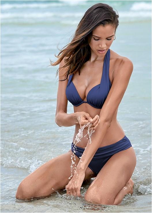 3ae60f9ec2 Navy Blue MARILYN PUSH UP BRA TOP Bikini