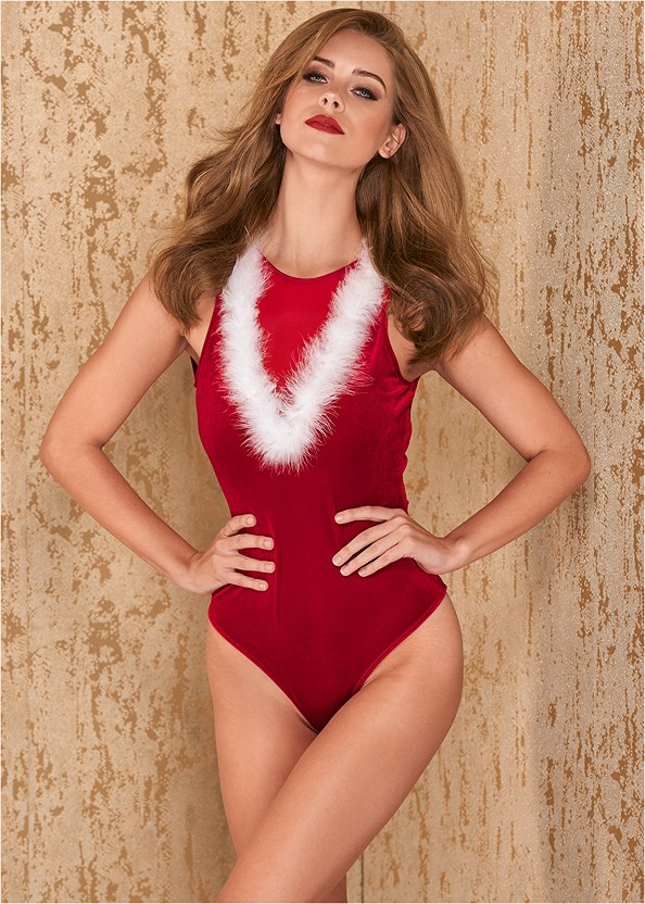Santa Baby Bodysuit,Mid Rise Color Skinny Jeans,High Heel Strappy Sandals