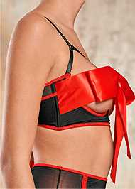 Alternate View Unwrapped Bow Front Bra