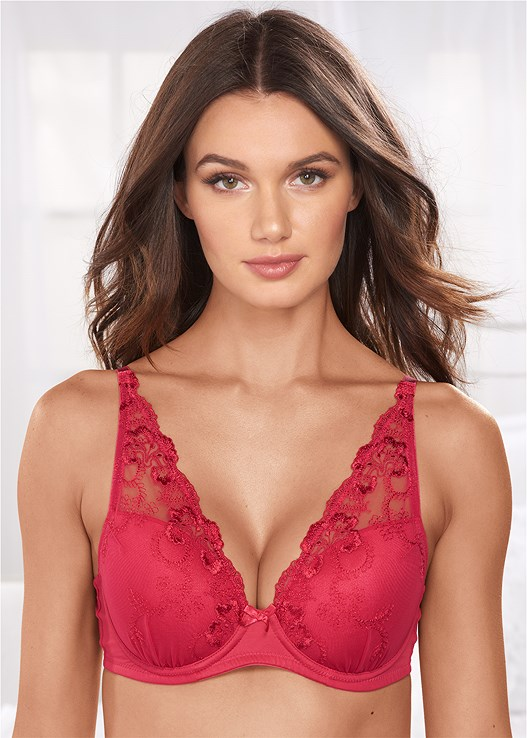 EMBROIDERED WIDE STRAP BRA,EVERYDAY YOU LACE HIPSTER