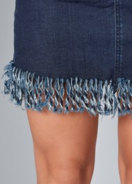 Alternate View Frayed Hem Denim Skirt