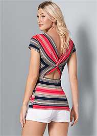 Back View Twisted Back Detail Top