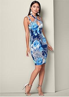 print bodycon dress