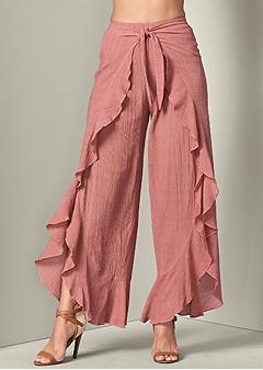 wrap front pants