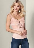 corset mesh detail top