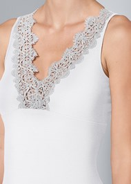 Alternate View Lace Detail V-Neck Top