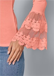 Alternate View Lace Trim Top