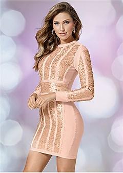 slimming sequin dress