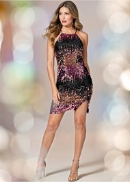 Alternate View Sequin Ombre Dress