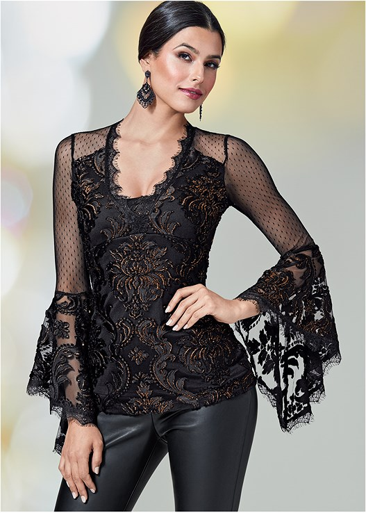 e6e1724f37f LACE DETAIL TOP