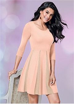 glitter sweater dress