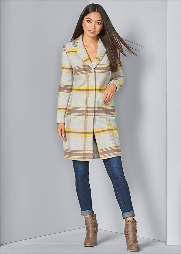 Alternate View Plaid Coat