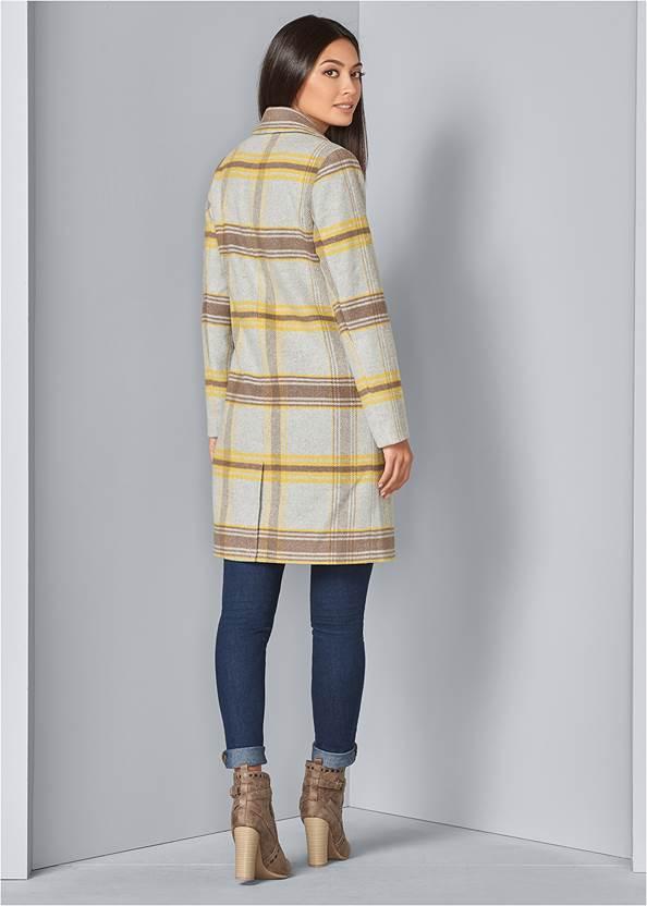 BACK VIEW Plaid Coat