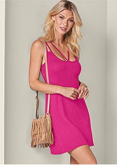 strappy detail casual dress