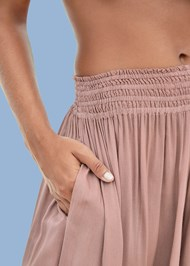 Detail  view Smocked Waist Cover-Up Pant