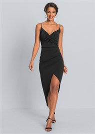 Front View High Slit Party Dress