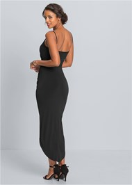 Back View High Slit Party Dress