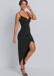 Alternate View High Slit Party Dress