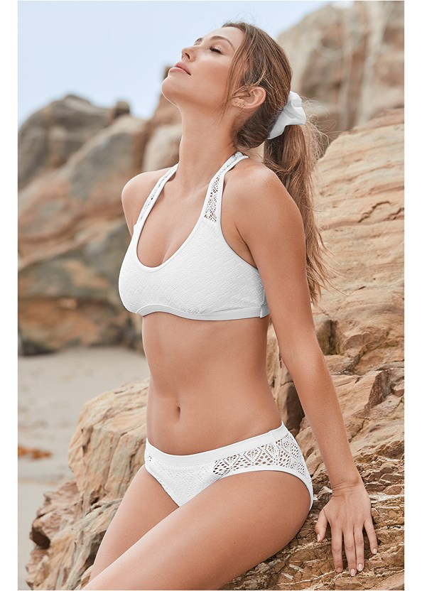 Mid Rise Crochet Bottom,Crochet Sport Bikini Top