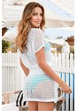 Back view Crochet Dress Cover-Up