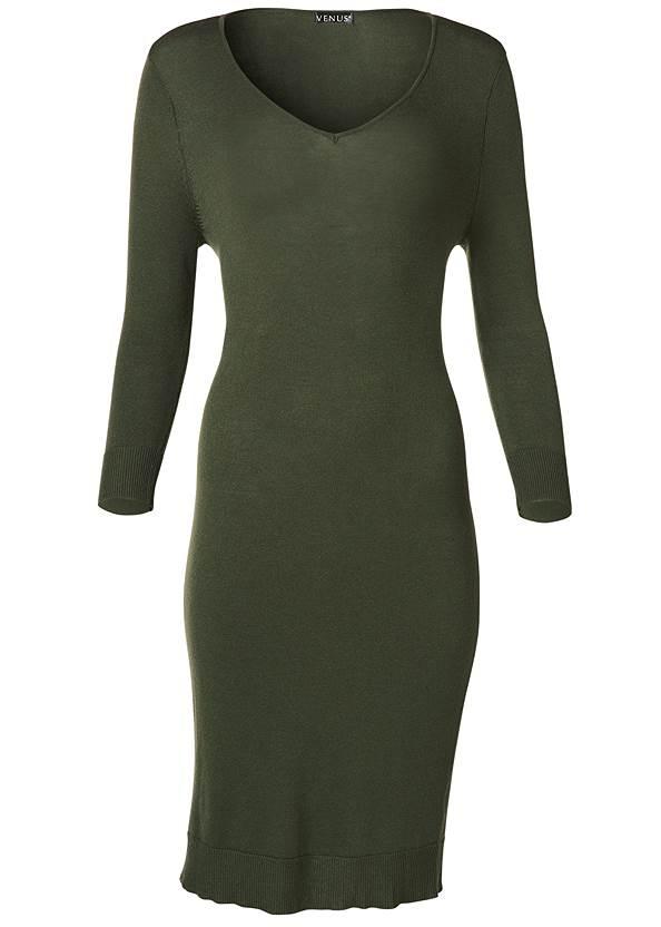 Alternate View V-Neck Sweater Dress