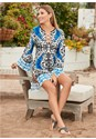 Front view Printed Cover-Up Dress