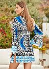 Back view Printed Cover-Up Dress