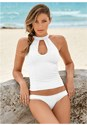 Front view Textured High Neck Tankini