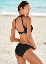 Back view Texture Scoop Bikini Bottom
