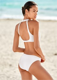 Back view Texture Scoop Bikini Bottom